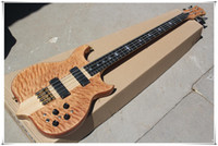Factory Custom Natural Wood Color 4- String Electric Bass Gui...