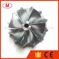 K16 1862-123-2002 49.60 / 62.00mm 6 + 6 pale Reverse High Performance Turbo Billet Ruota del compressore / Alluminio 2618 / Ruota del compressore di fresatura