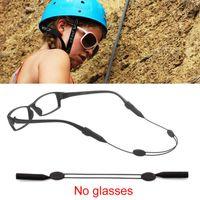 블랙 탄성 실리콘 안경 스트랩 선글라스 체인 독서 파란색 안경 체인 아이 코드 홀더 넥 스트랩 로프를 착용