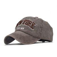 L'ultima estate cappello di baseball femminile cotone lavato ricamato cappello ombra NEW YORK coreano tappo maschio