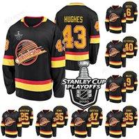 43 Quinn Hughes Vancouver Canucks 2020 Stanley Cup Playoffs Thatcher Demko Brock Boeser J. T. Miller Sven Baertschi Hóquei Jerseys