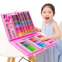 Commercio all'ingrosso di 42 PCS per bambini acquerello penna pittura insieme Imparare a dipingere con la spedizione Acquerello matita pastello olio pastello libero PEN0401