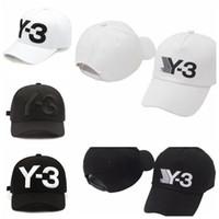 4 ألوان جديدة Y3 أبي قبعة كبيرة بولد شعار مطرز قبعة بيسبول قابل للتعديل القبعات القبعات Strapback Y3 الكرة CCA9221 محفظة 5pcs