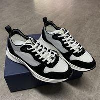 에스파 드리 B25 경사 주자 운동화 남성 플랫폼은 상자와 블랙 화이트 스웨이드 가죽 트레이너 메쉬 단어 캐주얼 스포츠 신발 신발