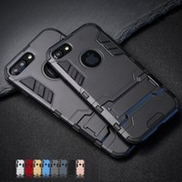 De luxe Stand Armor Phone Holder Case Pour iPhone 7 8 6 6 S Plus X XS max xr Hybride TPU + Dur PC ShockProof Couverture Arrière samsung s8 s9 note8 note9