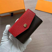 Diseñador al por mayor titular de la tarjeta cartera corta Moda de alta calidad caja original monedero de las mujeres cartera de diseño clásico bolsillo con cremallera