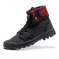 Mens femmes Bottes Palladium Pallabrouse Hommes Haut-Top Armée Militaire Canvas Sneakers Sneakers Casual Chaussures Homme Anti-Slip 36-45