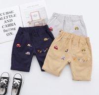 2019 Summer new Kids casual shorts boys colorful car letter ...