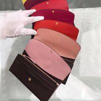 Atacado couro clássico carteira longa para as mulheres multicolor senhoras titular bolsa da moeda titular do cartão senhora pacote moeda bolso com zíper