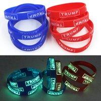 2020 Trump amerikanischen Wahl-Silikon-Armband Luminous Noctilucent Band-Armband-Großhandelspreis-freies Verschiffen durch DHL