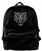 Tiger Face Canvas Shoulder Backpack Best Backpack For Men & ...