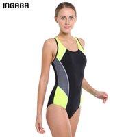 INGAGA One Piece Swimsuit 2019 Competition Swimwear женский купальник Спортивный профессиональный плавательный гонщик Назад Купальники