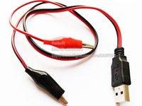 USB2.0 A Plug Maschio a Dual Alligator Test Clip Adapter Adapter Cavo CCTV / Spedizione gratuita / 10pcs