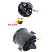 QF-Motor 70 # 6-лопастной пропеллер с канальным вентилятором EDF с QF2839 3200KV Motor Бесщеточный 4s Lipo для RC Модель самолета