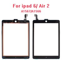30pcs lot 100% tested For ipad 6 6th air 2 touch screen glass with flex cable A1567 A1566 Free Tools with adhesive