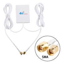 TS9 CRC9 SMA разъем 4g LTE Pannel Антенна двойной слайдер Разъем для Huawei 3G 4G LTE маршрутизатор модем Aerial 2M