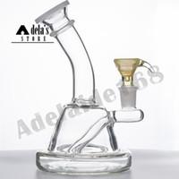 """6.7 """"Tuyau d'eau en verre + Couleurs de bol Free Disponible Bong 14mm Joint Dab Huile Habanhah Heavanah Recycleur Recycleur Bander BANGER 977"""