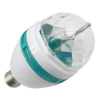 6 개의 LED 효과 사운드 컨트롤 밤 빛 RGB 3W 회전식 매직 공 무대 조명 실내 파티 장식