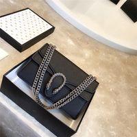 2019 neue, qualitativ hochwertige Litschi Leder Retro-Luxus-Handtasche hochwertige Designer original Leder-Umhängetasche diagonal Tasche