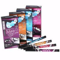 DHL Ücretsiz nakliye Sıcak satış YANQINA 36 H Su Geçirmez Eyeliner Kalem Sıvı Makyaj Güzellik Kozmetik Hassas 4 renkler Sıvı Eyeliner