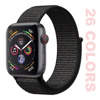For iWatch Smartwatch Strap Nylon Sport Loop Band 38MM 40MM ...