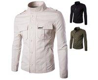 2020 Katoenen Workwear Jacket voor Boys Geborduurde Stand-Up Collar Jacket Jacket Y500