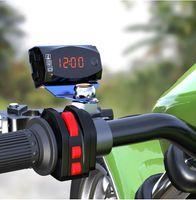 Mini Digital Voltímetro Amperímetro 12V 3 em 1 LED Digital Display Calibre de indicador Relógio Termômetro Medidor de painel Para Car Motorcycle