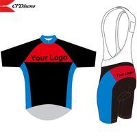 2019 maillot ciclismo Personalizar Personalizado ciclismo Jersey manga corta y pantalones cortos babero que completan un ciclo conjunto con transpirable de alta calidad