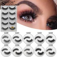 Shidishangpin 5 Pair Naturalne Długie Faux 3D Mink Eyelashes Makeup W pełni Wispy False Eyelash Extension Ninks Fake Lashes Maquillaje Faux Cils