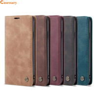 CaseMe Leather Wallet Cases With Card Holder Kickstand Featu...