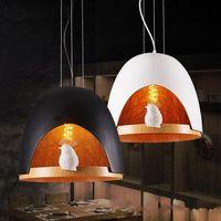 Новые Промышленные светодиодные подвесные люстры светильники для кафе-бара клуб-ресторан креативная птица лофт подвесное освещение подвесной светильник