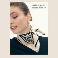 Nouveau petit foulard carré, foulard de soie 70cm, petit foulard carré britannique