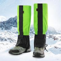 Jambières Imperméables Vélo Couvre-Jambes Camping Randonnée Botte Ski Chaussure Voyage Chasse Neige Escalade Guêtres Coupe-Vent HX03