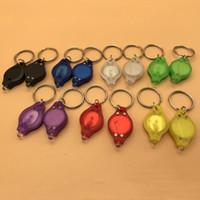 هدية صغيرة بالجملة الأزياء المفتاح الدائري البسيطة مشاعل رخيصة للأشعة فوق البنفسجية للكشف عن المال LED سلسلة المفاتيح ضوء متعدد الألوان DH0154