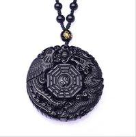 جديد الطبيعية السوداء سبج التنين فينيكس قلادة قلادة الأزياء سحر المجوهرات