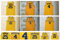 Alta Qualidade Michigan Wolverines 5 Jalen Rose Jersey 25 Dwight Howard Jersey 4 Chris Webber University Mens College Basketball Jerseys