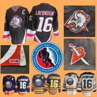 Pat LaFontaine Jersey With 2003 Hall Of Fame Patch Ice Hockey Buffalo  Sabres NEW York Islanders Jerseys CCM Vintage White Navy Home Away 188ef0374