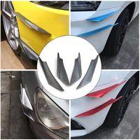 سيارة عالمية الوفير الفاصل الزعانف السيارات تعديل الرياح المفسد سكين الهواء الديكور واقية تقليم 4 قطع لون ألياف الكربون