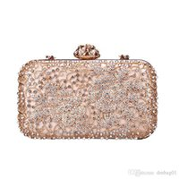 Pop2019 Pink Sugao Crystal Luxury Evening Bag Shoulder Bag B...