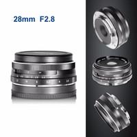 عدسة التركيز اليدوي الثابتة 28 ملم f / 2.8 لأوليمبوس باناسونيك M4 / 3 نظام كاميرا APS-C بدون مرآة EM1 M10 EP5 EP-L3 PEN-7 GF5 G