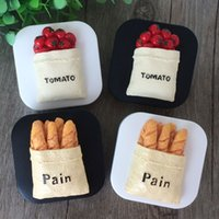 Contact Lens Case for Lenses Box for Glasses Cartoon Bread T...