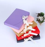 100pcs 26x17.5x3.5cm grand cadeau boîte bouteille cosmétique foulard vêtements emballage couleur boîte de papier avec ruban boîte d'emballage de sous-vêtements