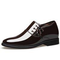 Spitz Männer Kleid Schuh Lackleder Schuhe Herren faulenzer italienische Modemarke Bräutigam Hochzeit Derby Schuhe Männer Business Oxford Schuhe