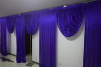 6 متر واسعة سوجس تصاميم المصمم الزفاف خلفية حزب الستار الستائر الاحتفال المرحلة الأداء خلفية الساتان الستارة جدار draps