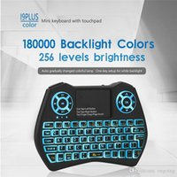 2019 Neue Mini-Tastatur I9 Plus-bunte Hintergrundbeleuchtung Air Maus mit Touchpad-Fernbedienung Arbeit für Android TV BOX / TV / Mini-PC / Projektor / X96