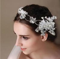 2019 Yeni Dantel Kristal Gelin Kafa Düğün Aksesuarları Için Düğün Takı Başlıklar Taçlar Bling Bling Kristal Boncuklu
