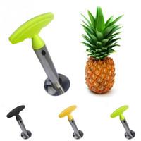 Acier inoxydable Facile à utiliser Accessoires pour éplucheur d'ananas Trancheurs d'ananas Couteau à fruits Coupeur Corer Trancheuse Cuisine Outils