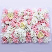 40x60 센치 메터 인공 꽃 벽 장식 도로 리드 꽃 가짜 수국 모란 장미 꽃 웨딩 아치 장식 플로레스 화환