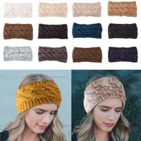 Designer lavorato a maglia Hairband Donne Sport invernali Hairband Turbante Headwrap dello scaldino dell'orecchio Beanie Cerchietti con la lettera XD22716