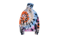 19FW Astroworld X DSM NY Screamer Tie- dyed Sweater Hoodies H...